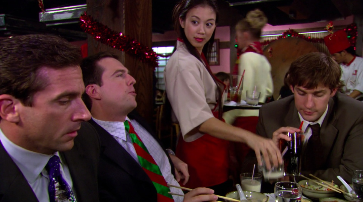 "Still from The Office episode ""A Benihana Christmas"""