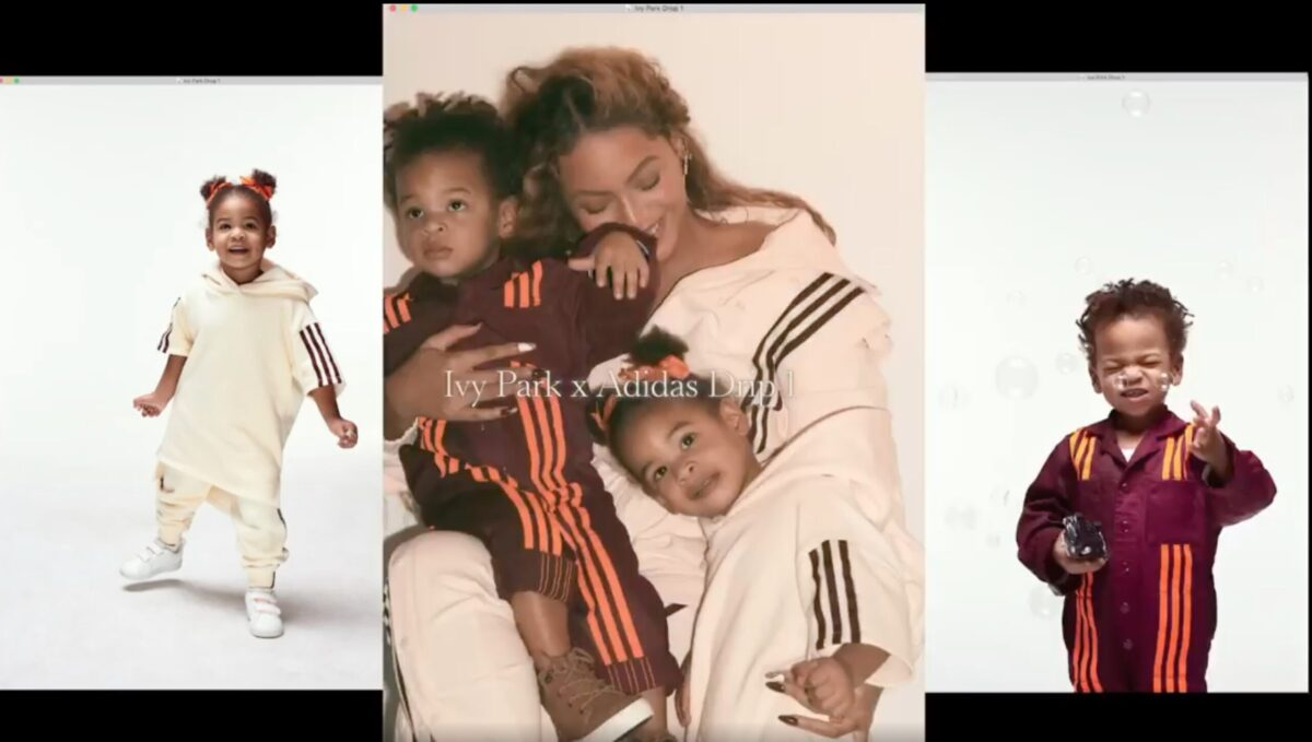 Beyonce with Rumi and Sir in Ivy Park ad