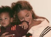 Beyonce with Sir, modeling Ivy Park