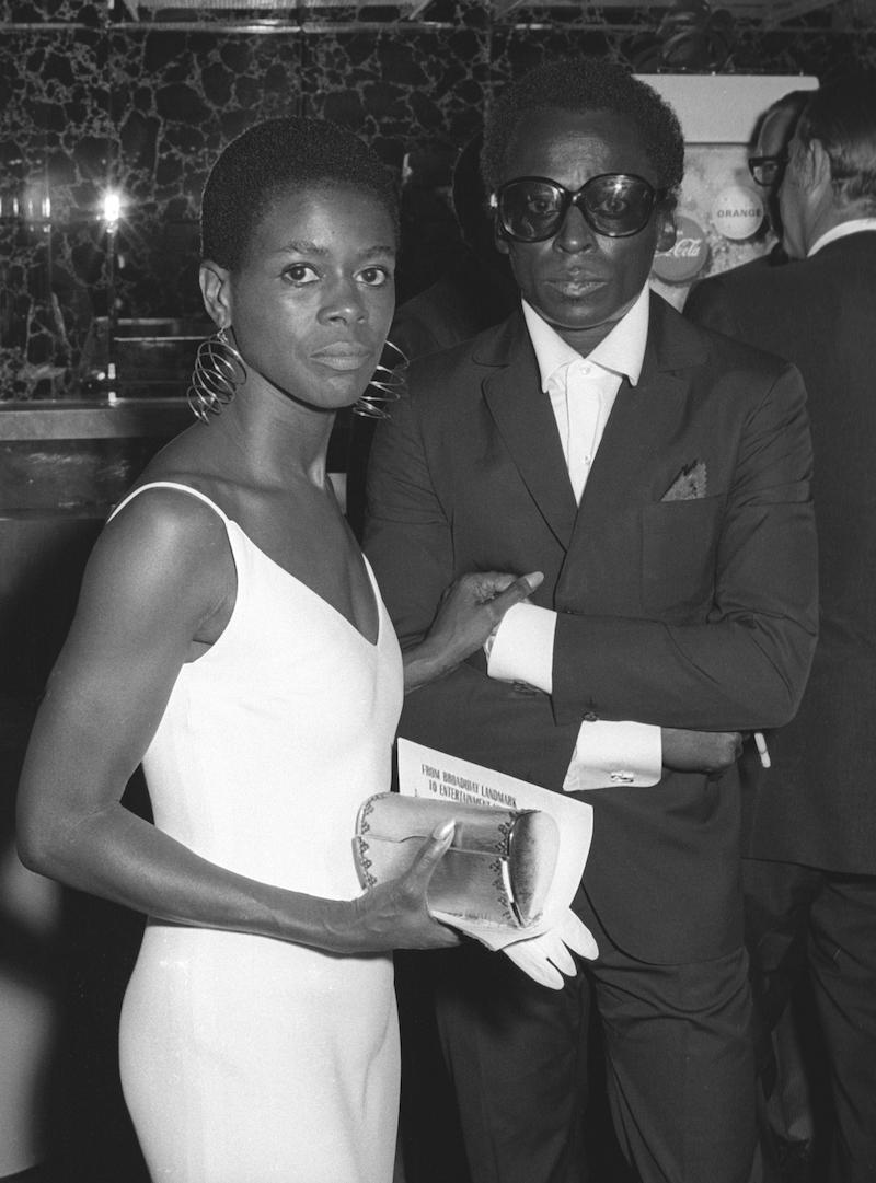 Cicely Tyson and Miles Davis