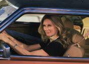 Actress Cloris Leachman Driving a Car