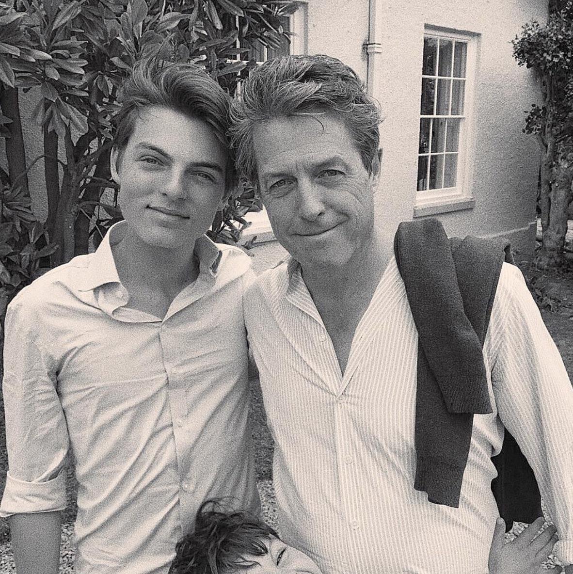 Damian Hurley and Hugh Grant