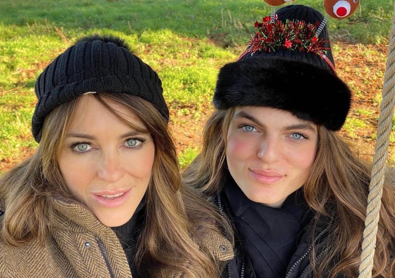 Damian and Elizabeth Hurley Christmas 2019