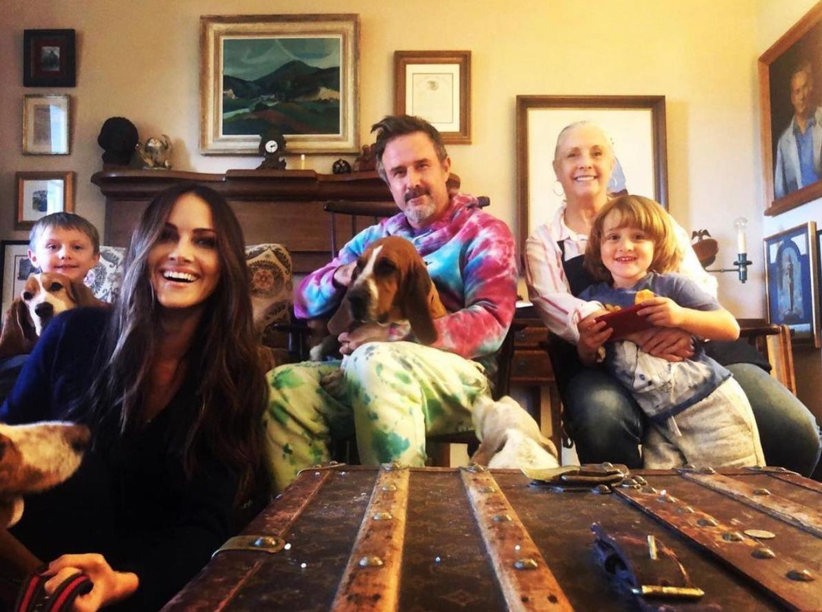 David Arquette and family