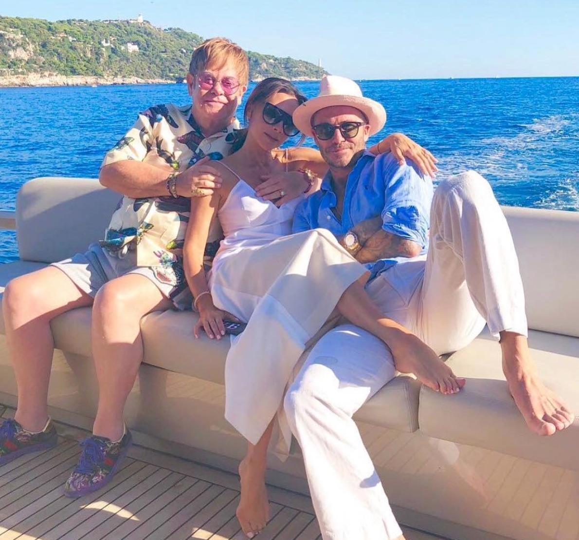 Elton John, Victoria Beckham, David Beckham
