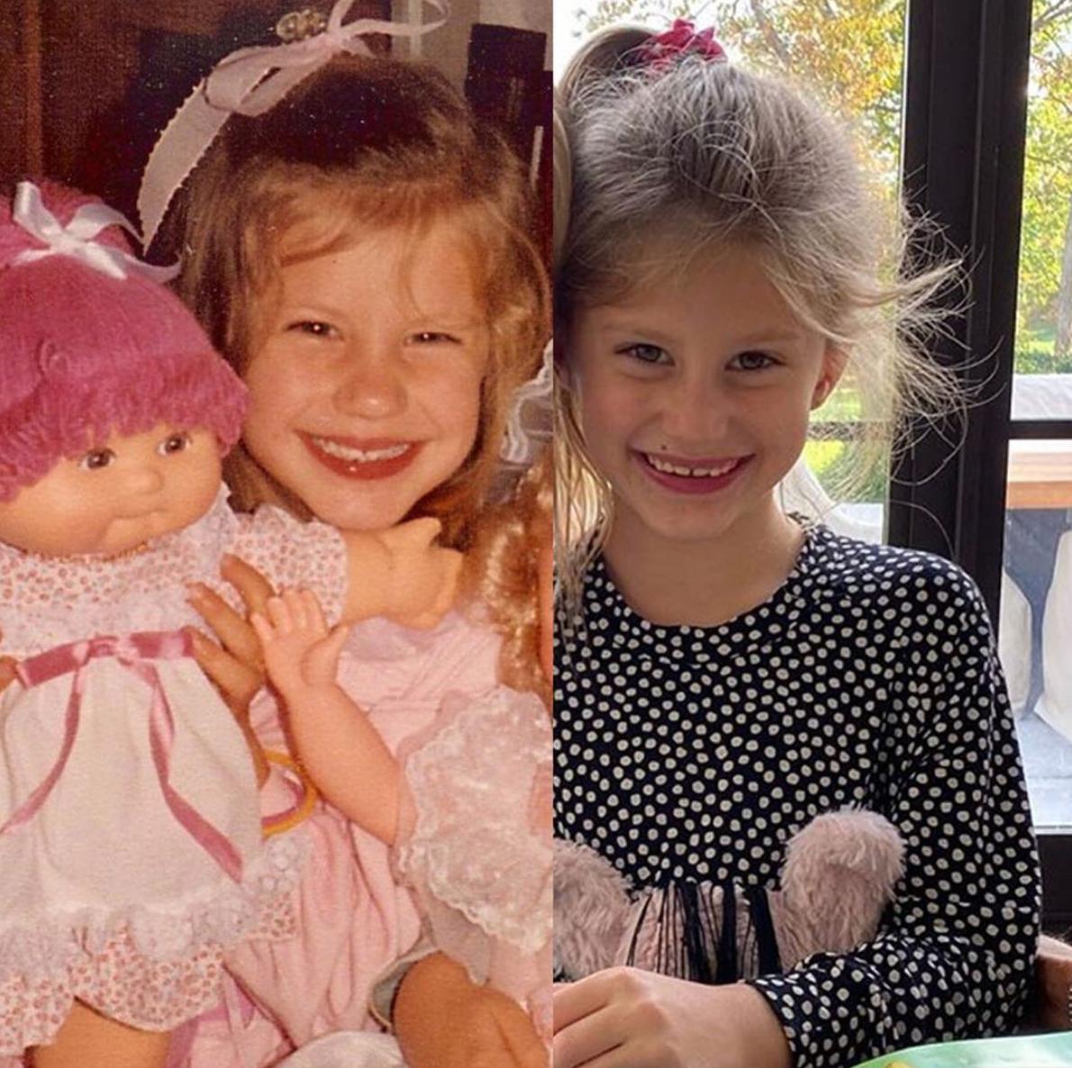 Gisele Bundchen as kid and Vivian