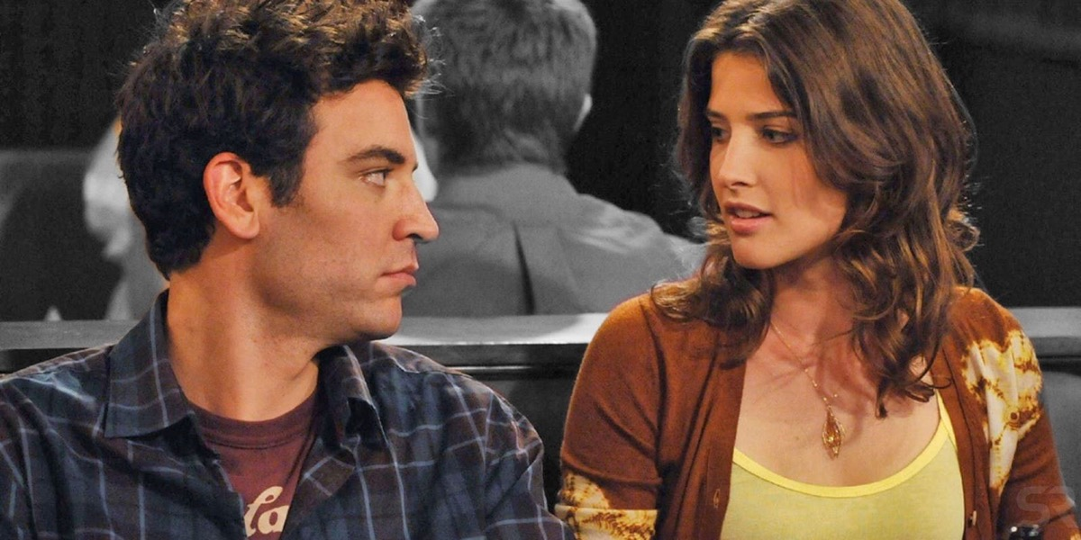 ted and robin on how I met your mother