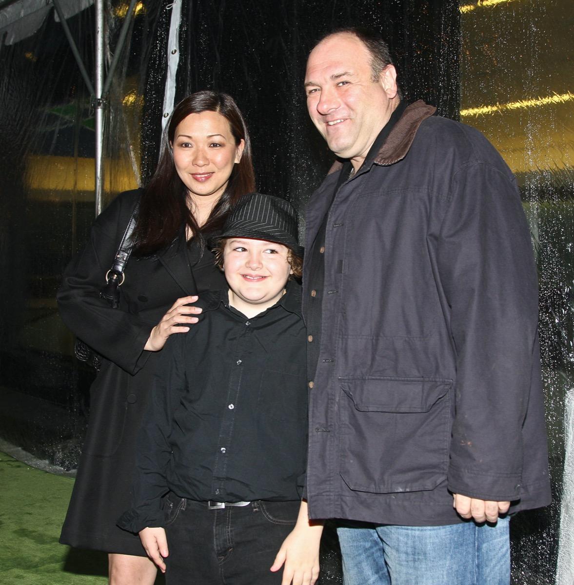 James Gandolfini with wife Deborah Lin and son Michael