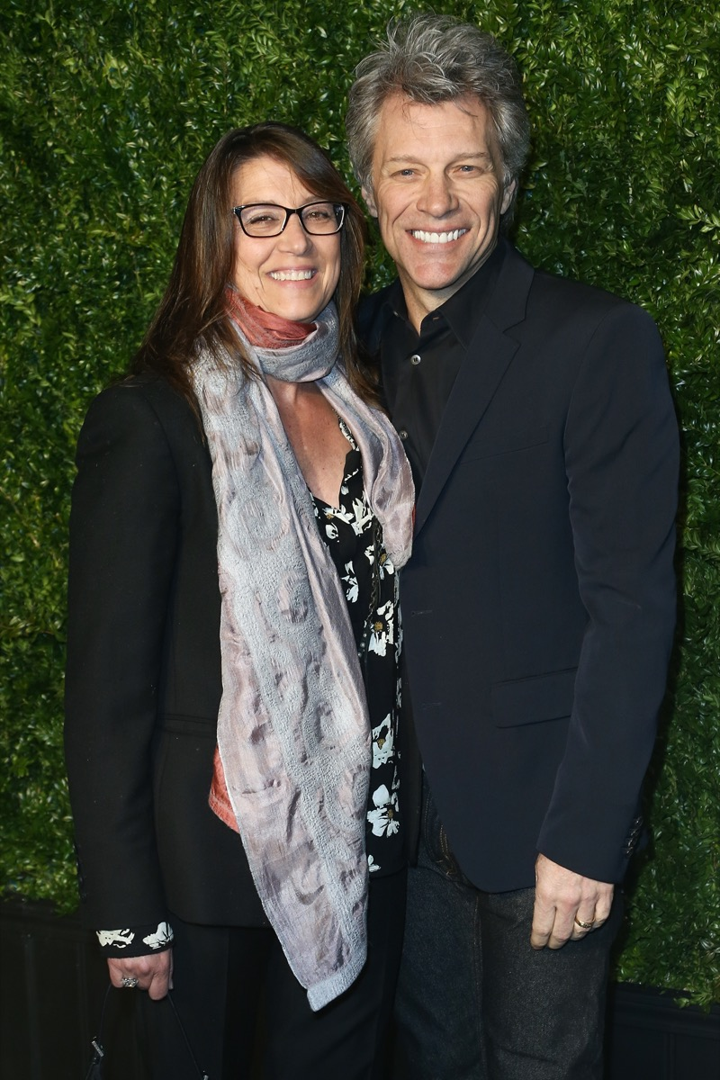 Dorothea Hurley and Jon Bon Jovi at the the 12th Annual Tribeca Film Festival Artists Dinner in 2017
