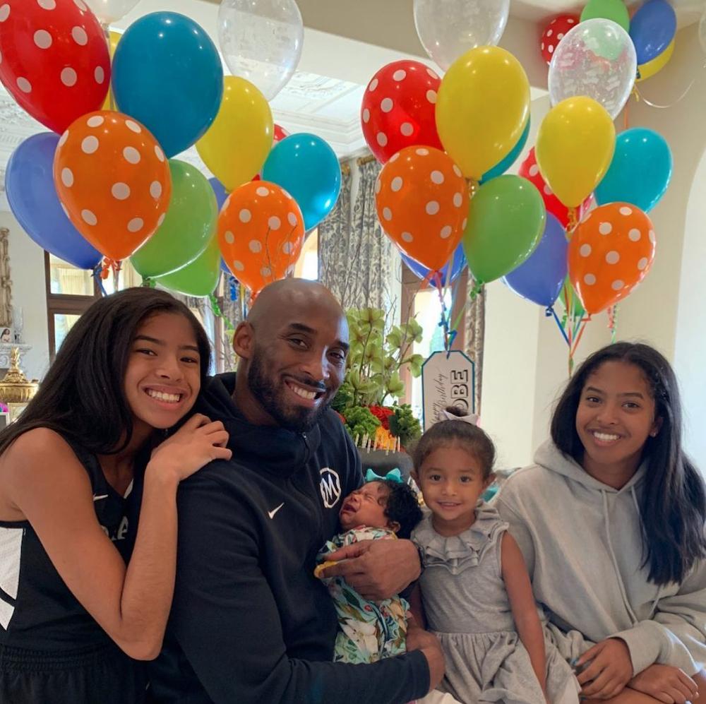 Kobe Bryant and daughters