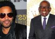 Lenny Kravitz and Al Roker