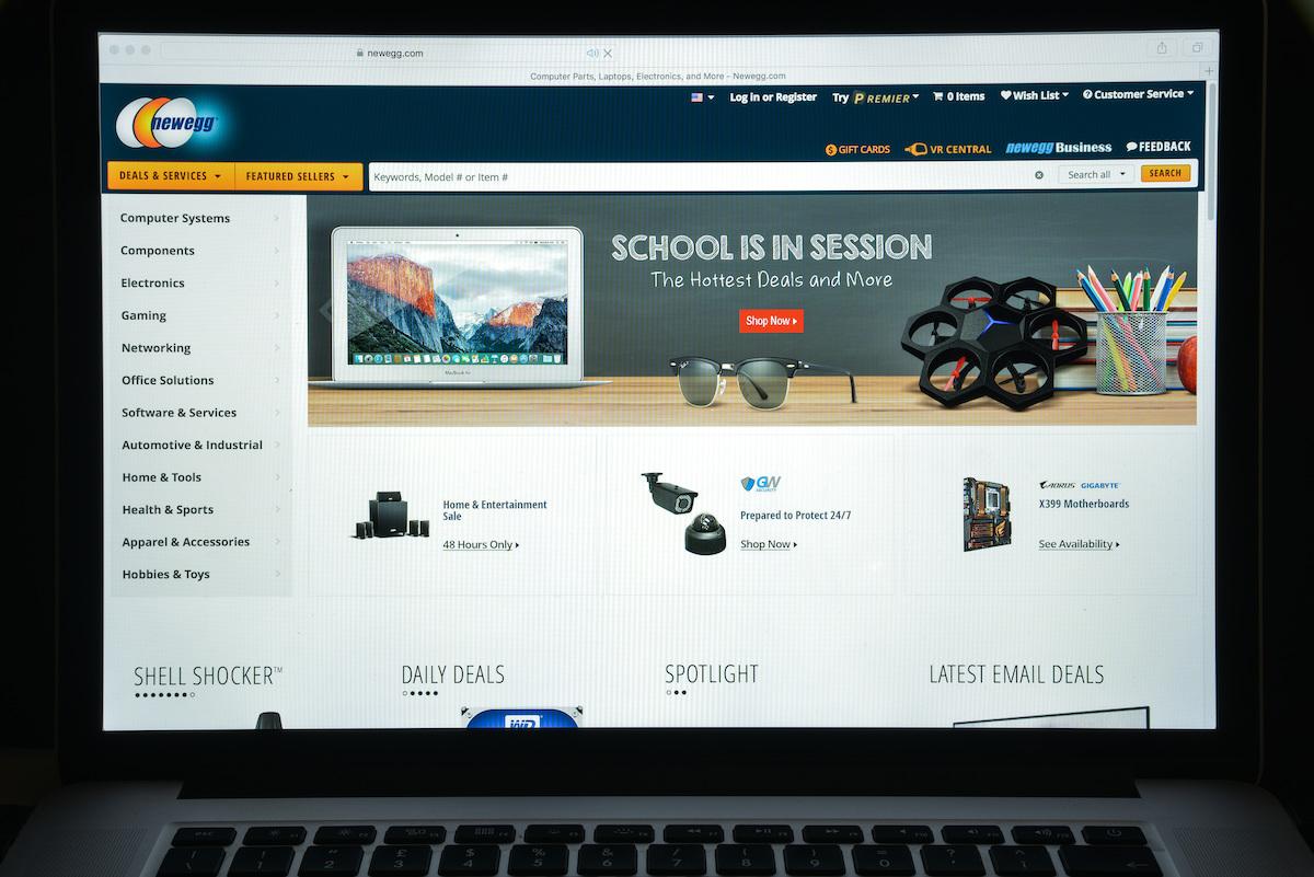 Newegg website