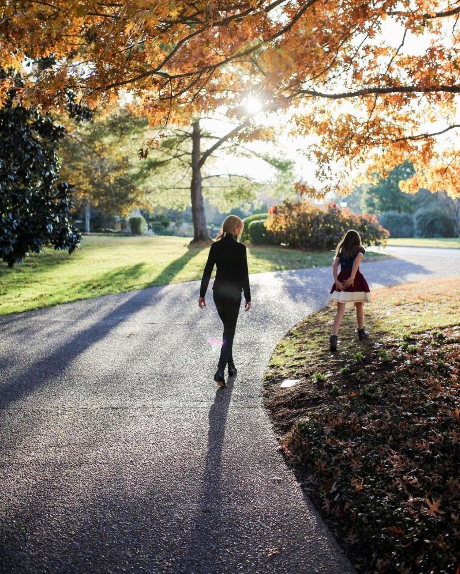 Nicole Kidman and Sunday walking