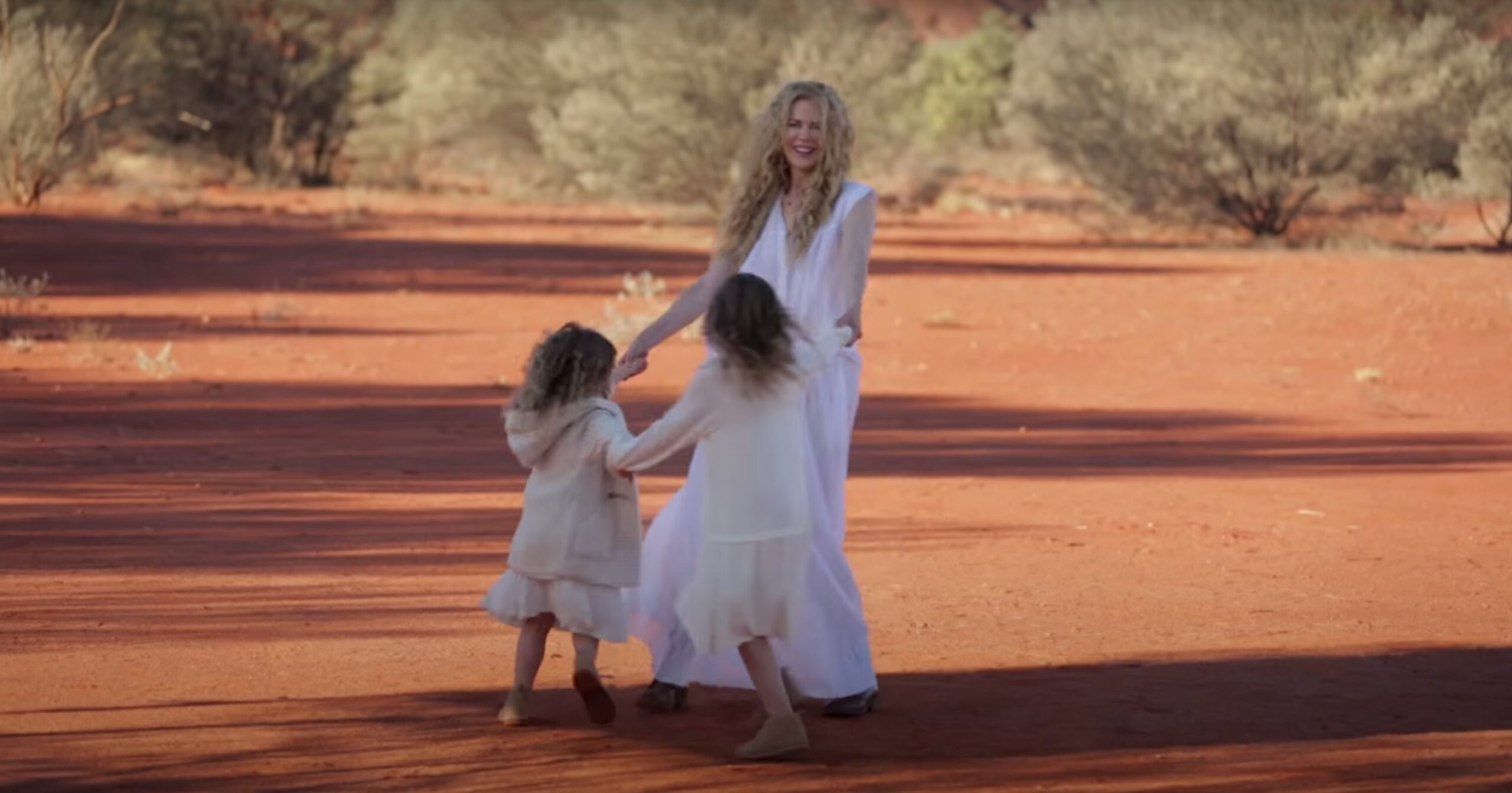 Nicole Kidman and her daughters in a 2015 video for Vogue