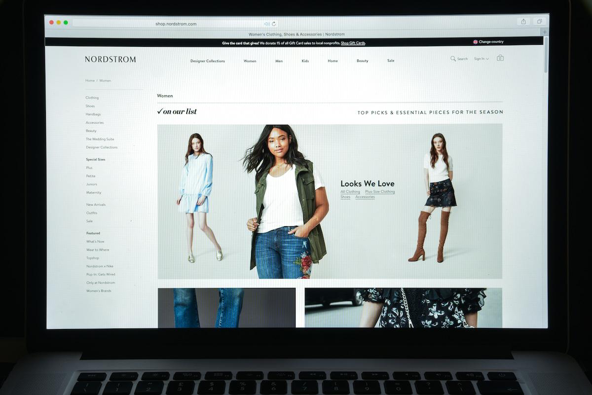 Nordstrom website