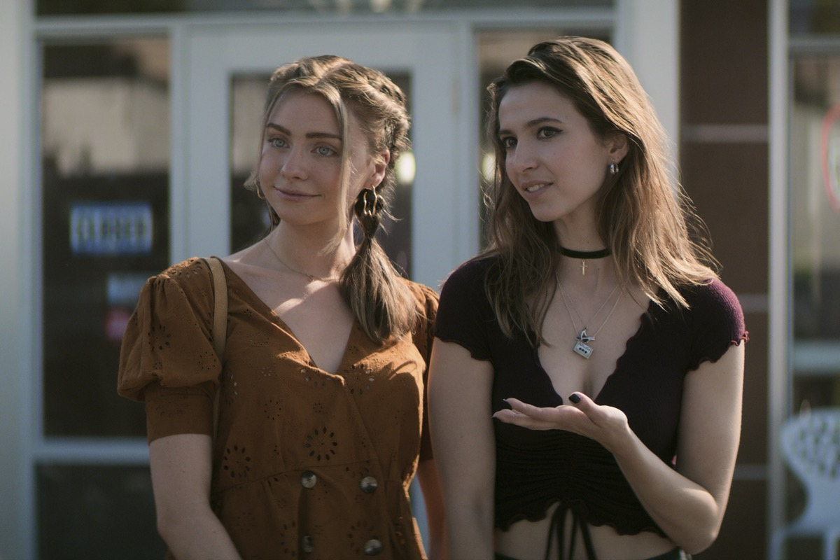 Maddie Phillips and Anjelica Bette Fellini in Teenage Bounty Hunters