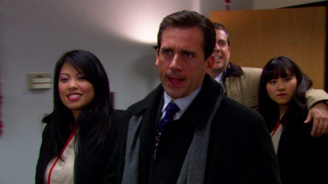 Still from The Office Benihana Christmas episode