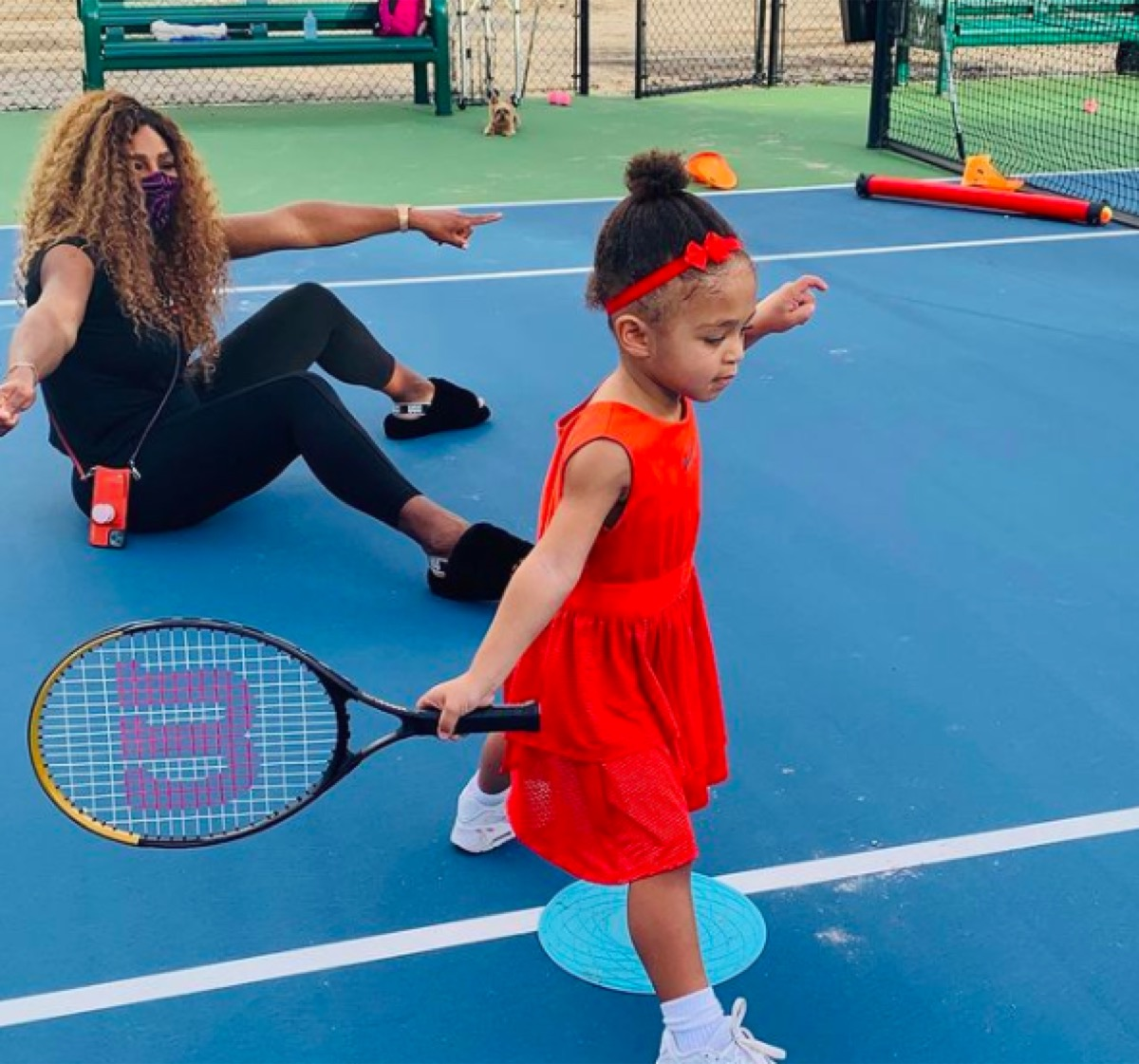 Serena Williams and daughter Alexis
