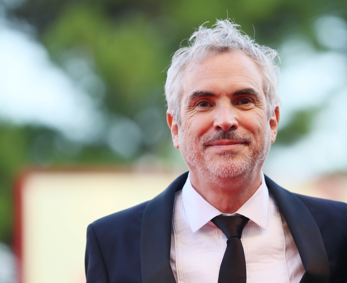Alfonso Cuarón on the red carpet at the Venice Film Festival in 2018