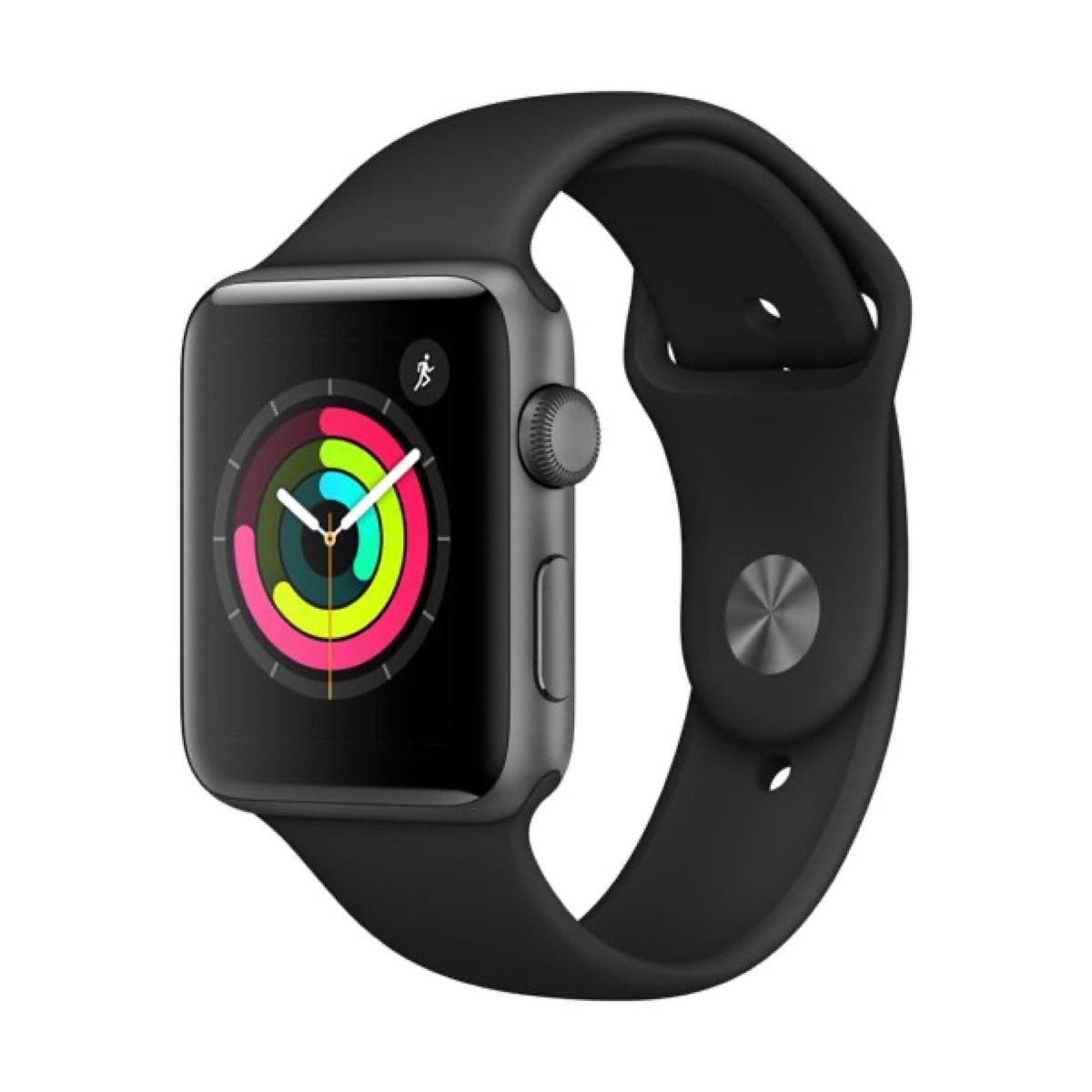 apple watch with black band