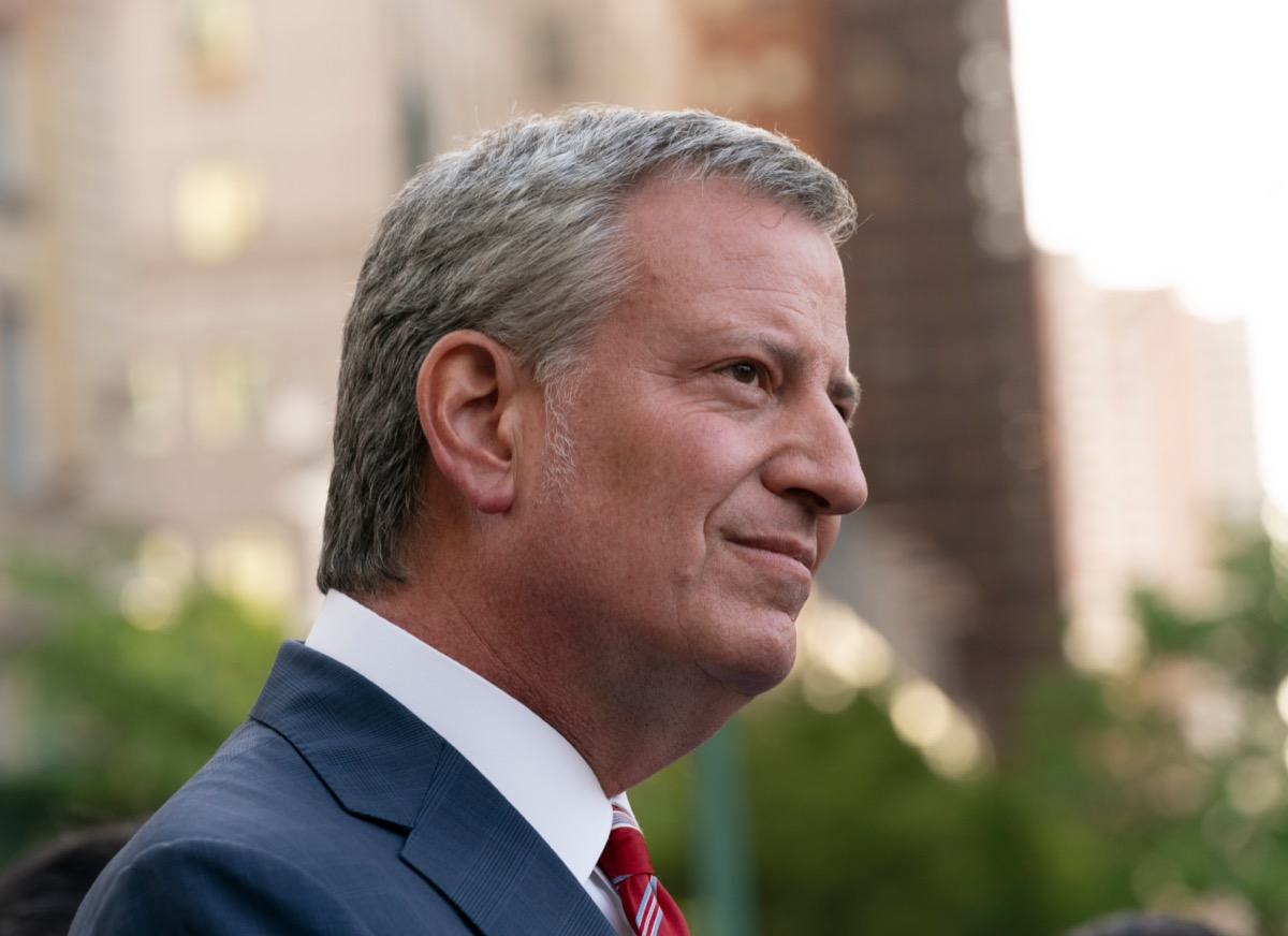 Bill de Blasio at a women rights rally organized by Planned Parenthood in 2019