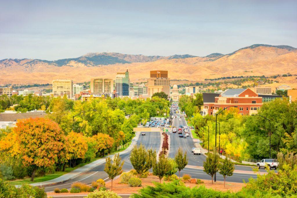 cityscape photo of downtown Bosie, Idaho