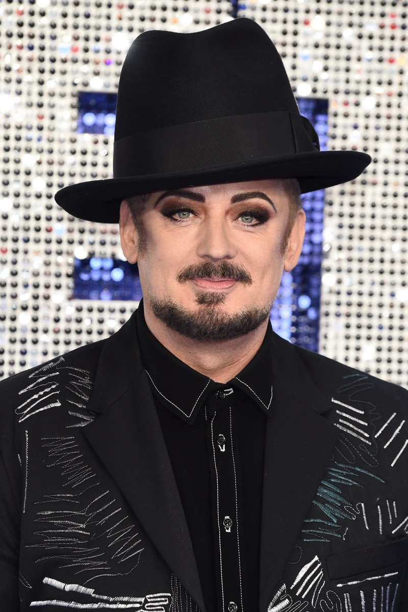 Boy George at the UK premiere of 'Rocketman' in 2019