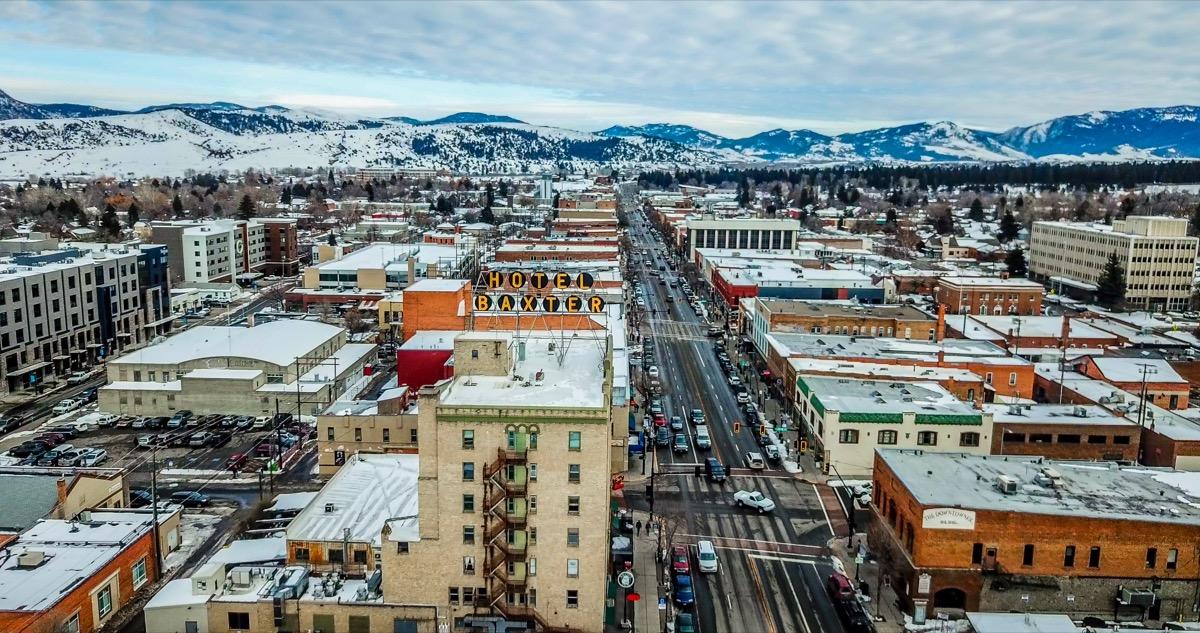 cityscape photo of downtown Bozeman, Montana