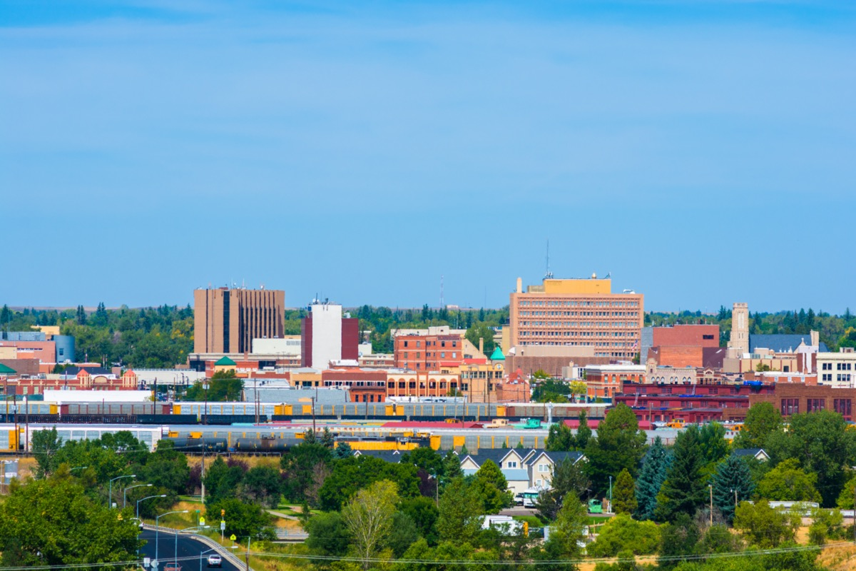 city skyline of downtown Cheyenne, Wyoming