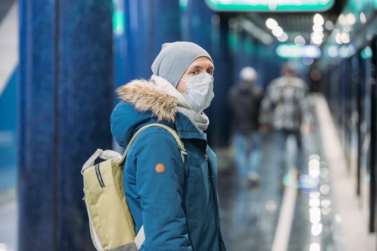 Man wearing a mask