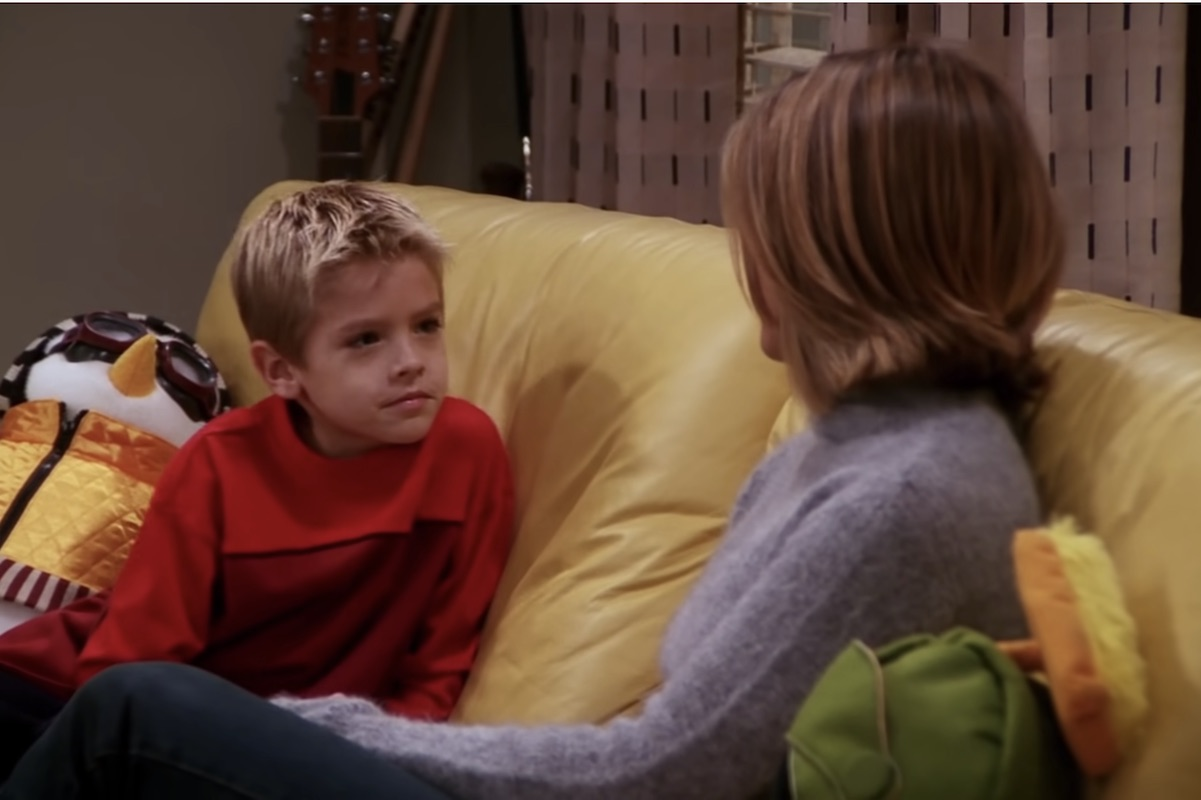 cole sprouse with jennifer aniston on Friends