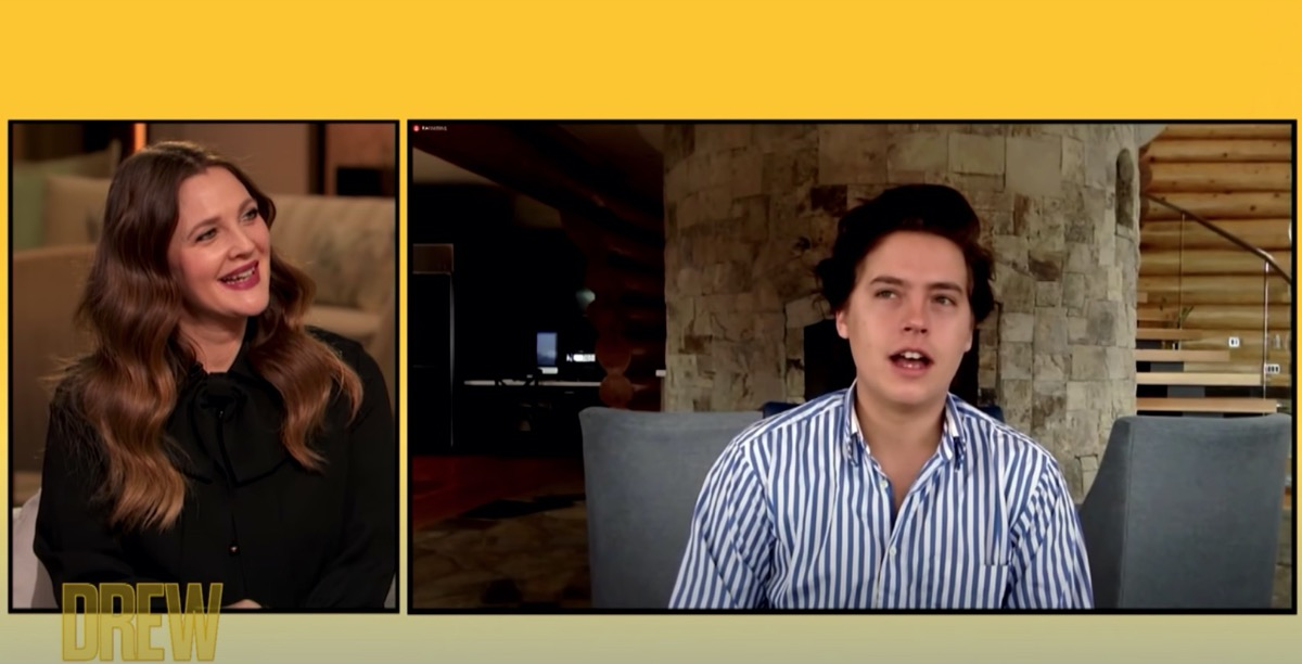 drew barrymore interviewing cole sprouse