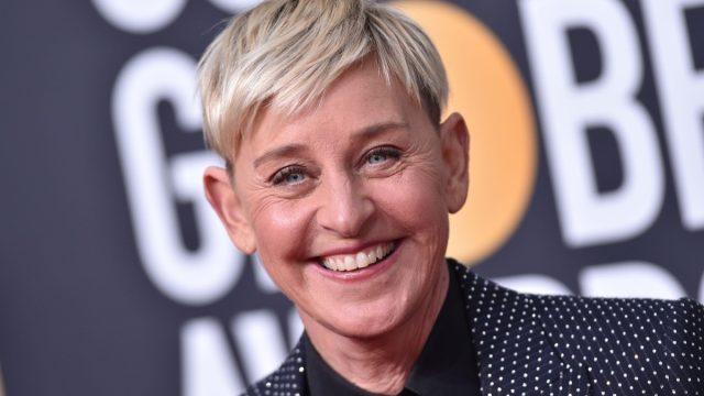 Ellen DeGeneres at the 'Golden Globe Awards' in 2020