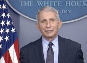 Dr. Anthony Fauci discusses the new COVID strain from South Africa during White House briefing on Jan. 21, 2021