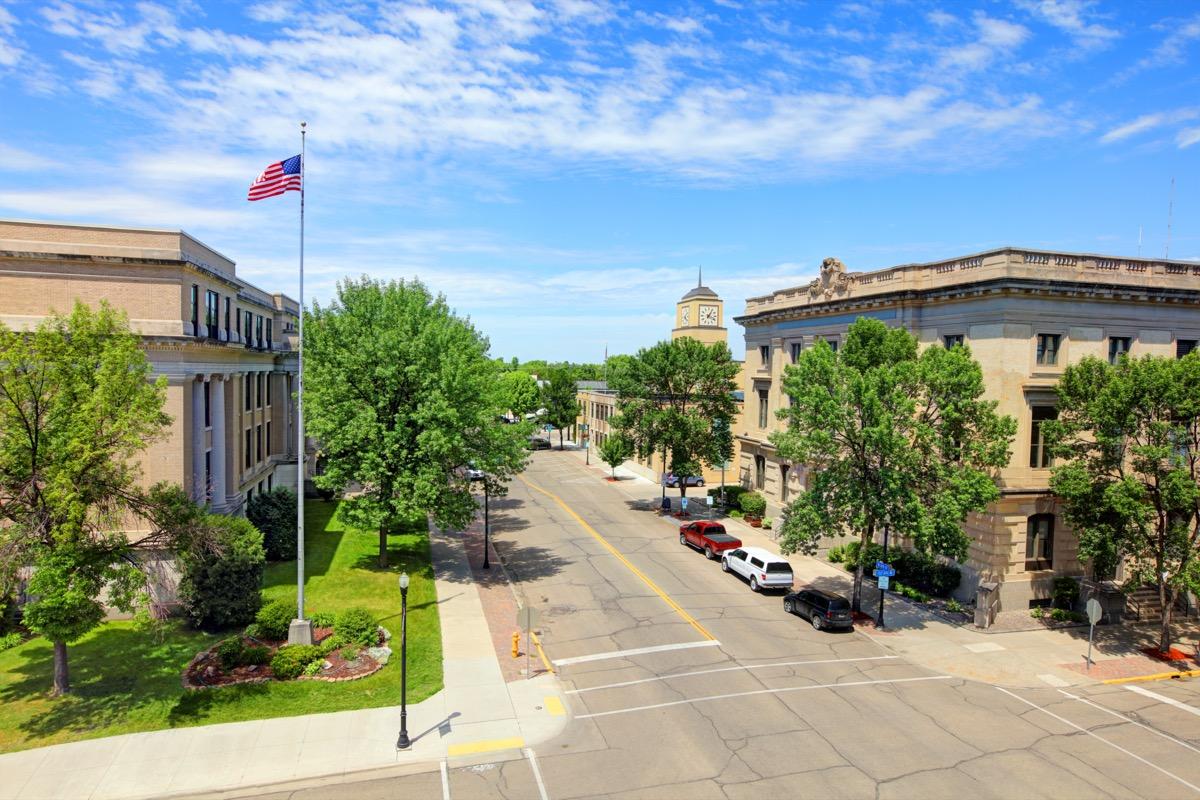 cityscape photo of downtown Grand Forks, North Dakota