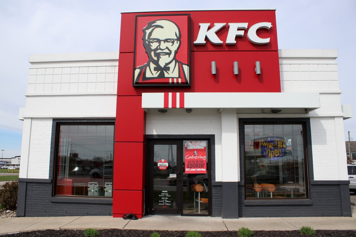 the exterior of a KFC restaurant in Columbus, Ohio