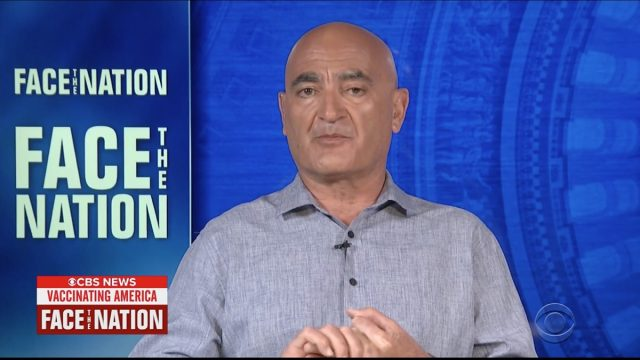 moncef slaoui being interviewed on face the nation