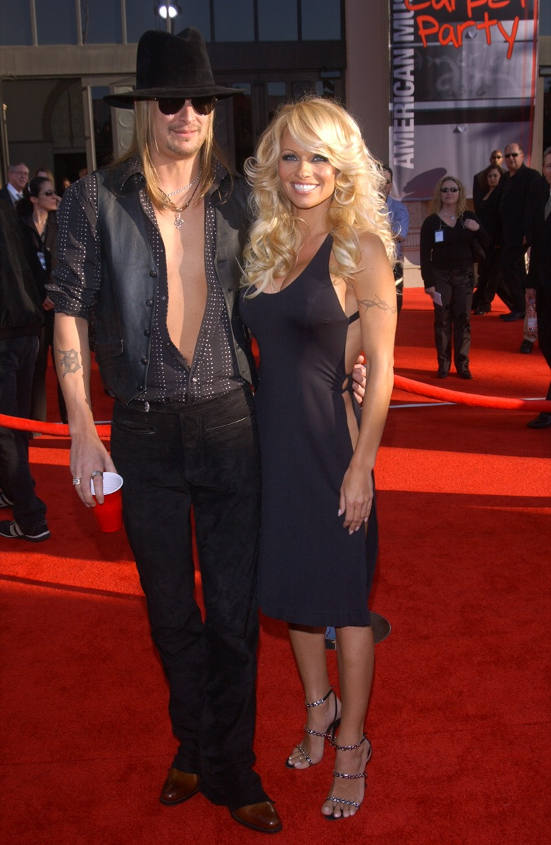 Pamela Anderson and Kid Rock at the American Music Awards in 2003