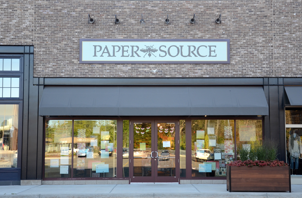 Paper Source storefront