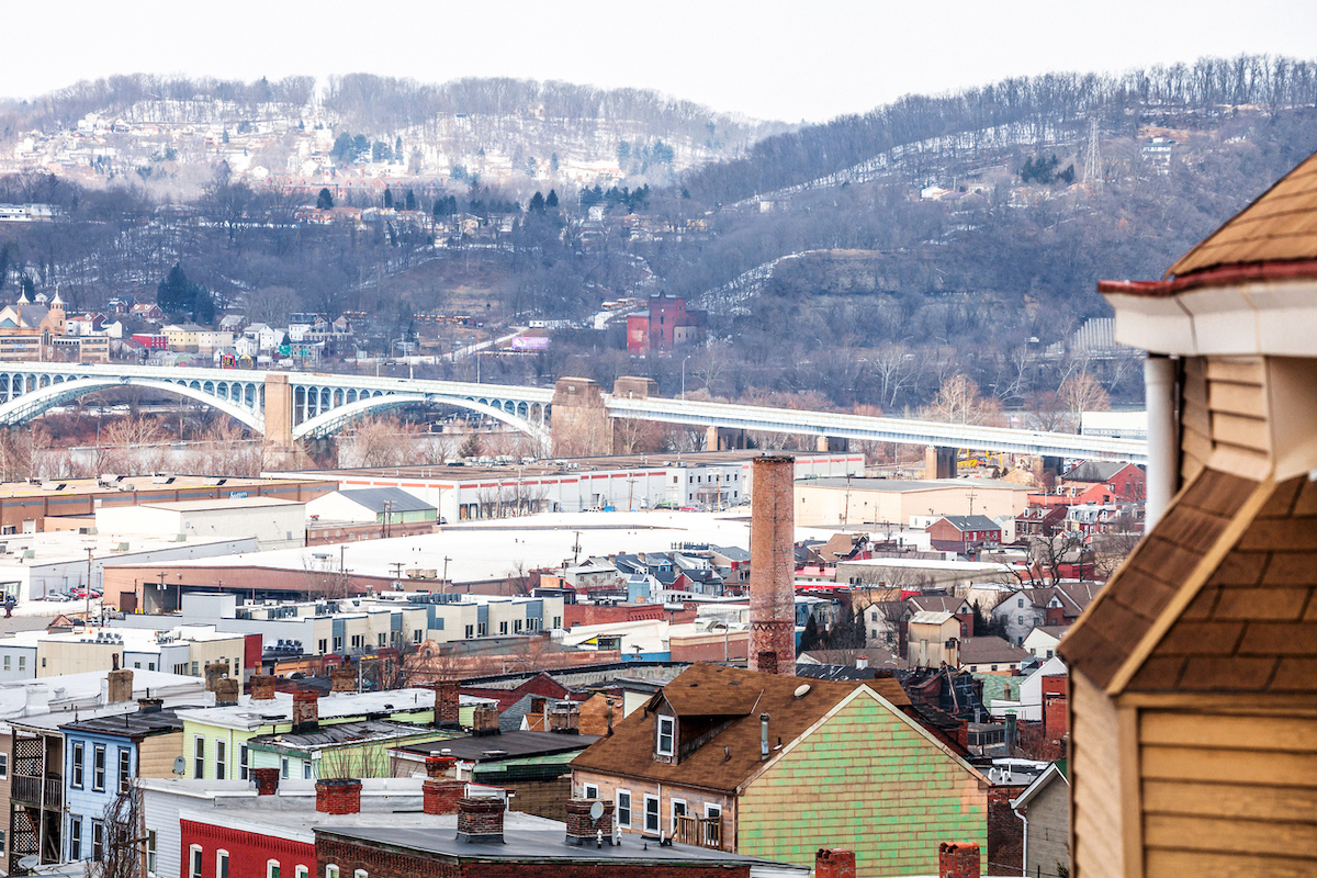 City view from Polish Hill, Pittsburgh, Pennsylvania, USA
