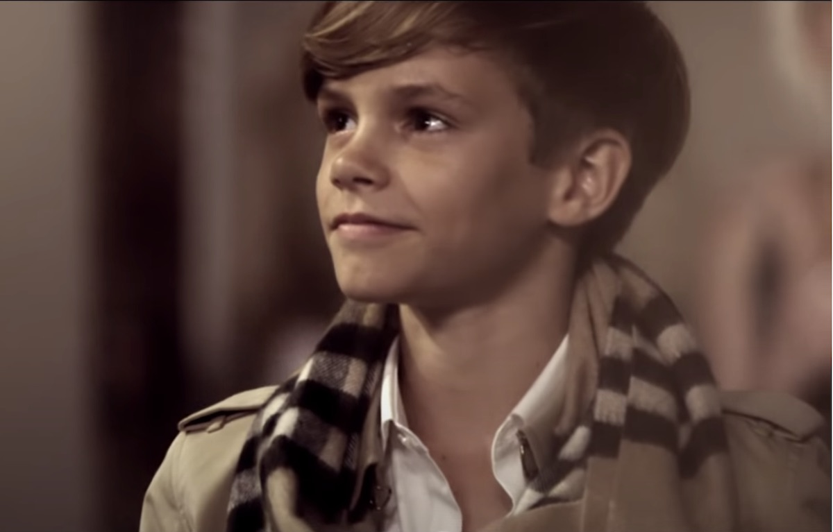Romeo Beckham in 2014 Burberry ad