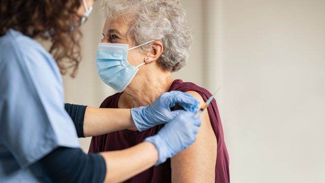 Over 65 getting vaccine