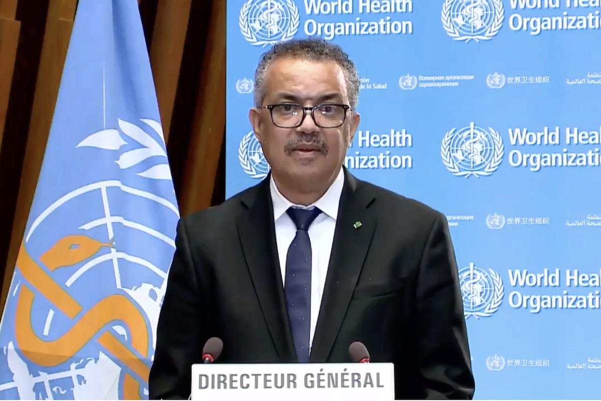 Tedros Adhanom Ghebreyesus, the WHO director-general,