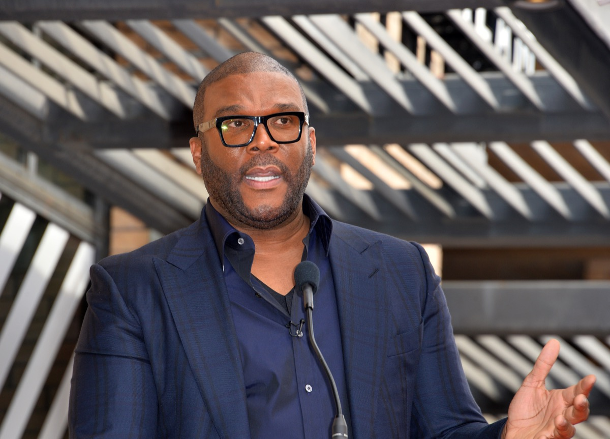 LOS ANGELES, CA. February 21, 2020: Tyler Perry at the Hollywood Walk of Fame Star Ceremony honoring Dr Phil McGraw. Pictures: Paul Smith/Featureflash