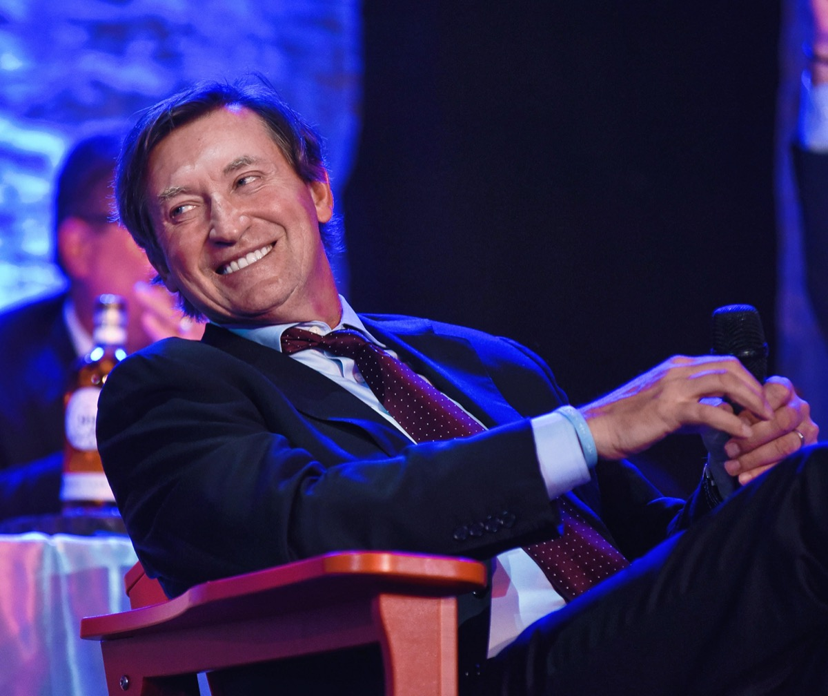 Wayne Gretzky at the 30th anniversary gala for 1987 Canada Cup victory in 2017