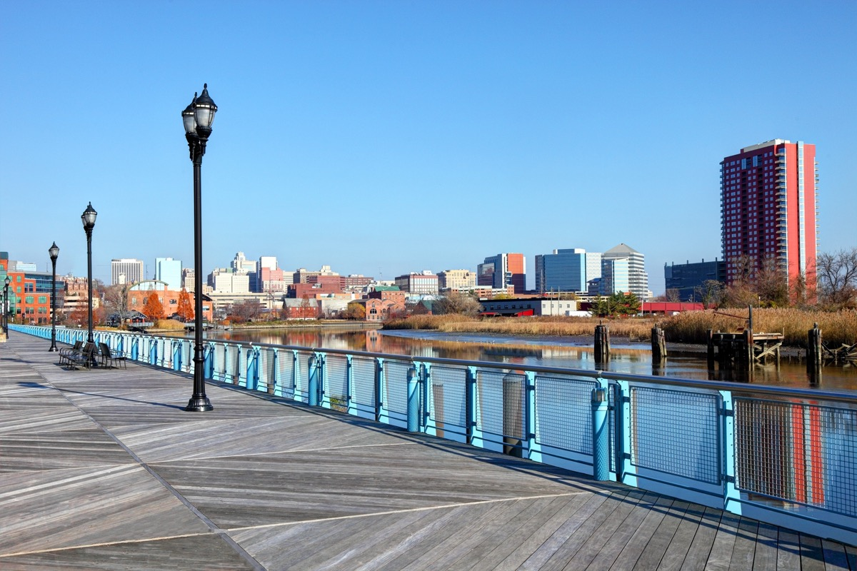 the Christina River and Brandywine Creek in downtown Wilmington, Delaware