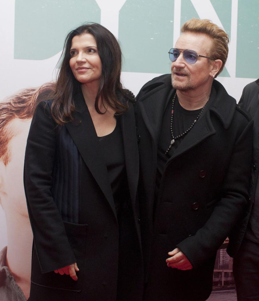 Ali Hewson and Bono at the Irish premiere of Brooklyn at the Savoy Cinema in 2015