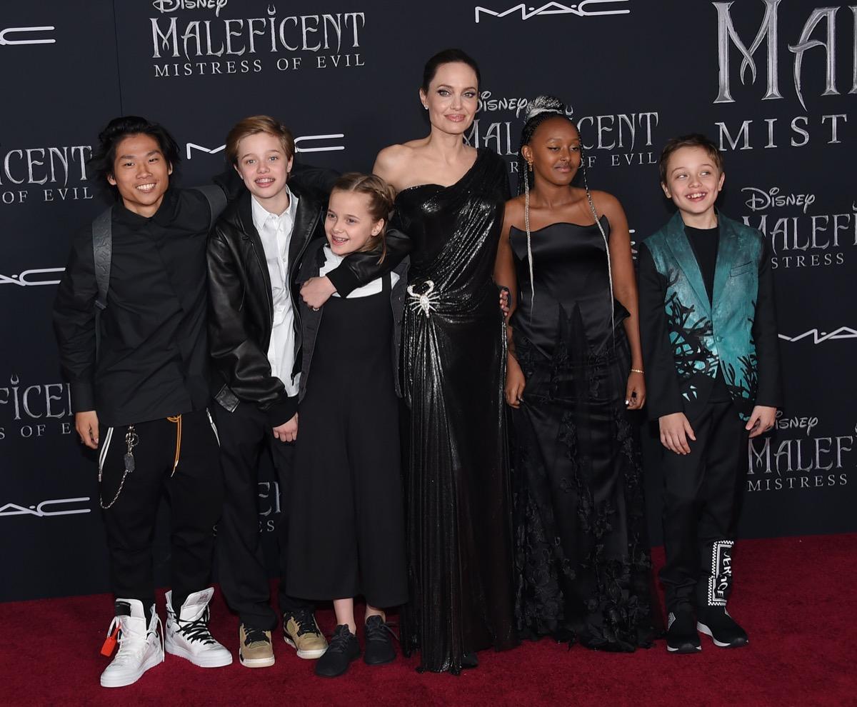 Pax, Shiloh Jolie-Pitt, Vivienn, Angelina Jolie, Zahar and Knox Jolie-Pitt