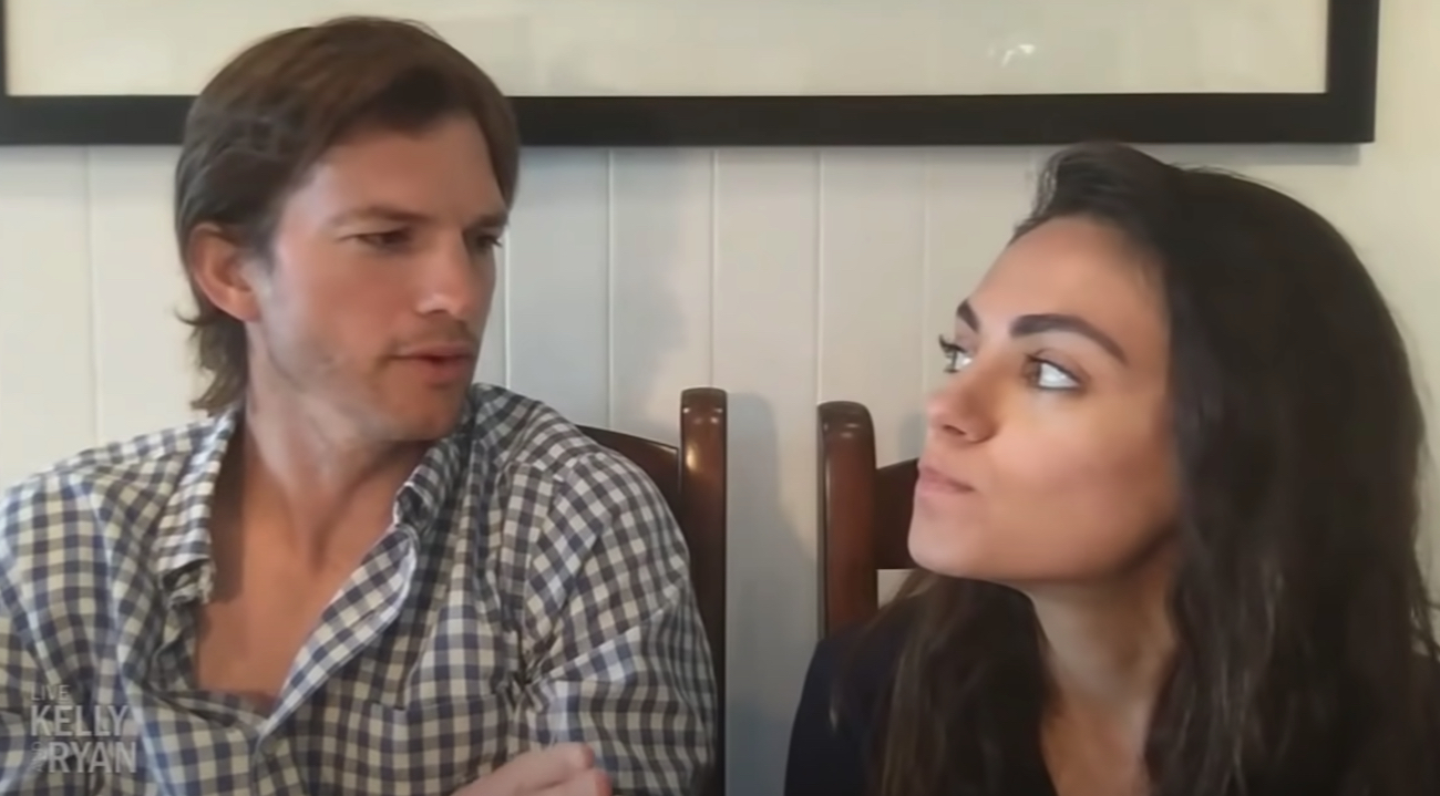Ashton Kutcher Mila Kunis Live with Kelly and Ryan