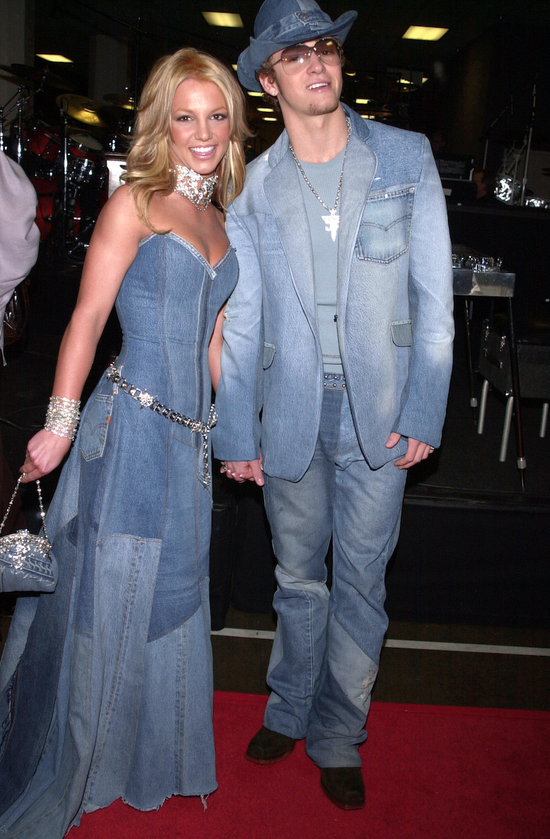 Britney Spears, Justin Timberlake denim outfits